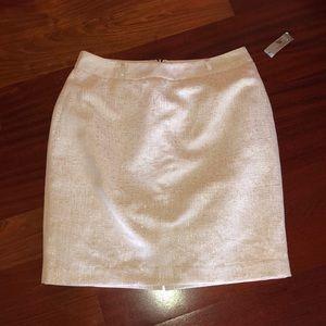 NWT ivory & gold skirt
